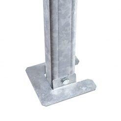 Piastra antisfondamento sendzimir mm 150x150x3 per palo in acciaio di testata