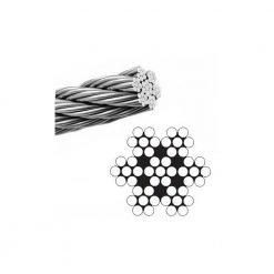 Fune zincata 49 fili, diametro 5 mm