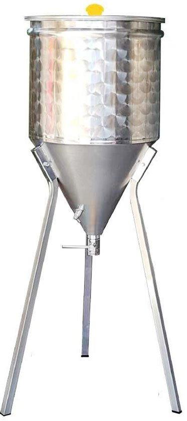 Fermentatori birra in acciaio inox con fondo conico 60°