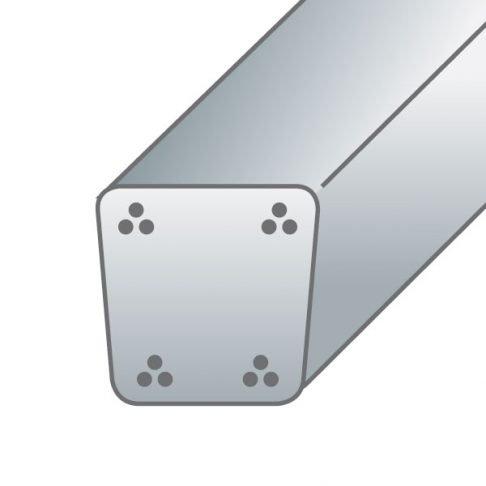 Pali in cemento precompresso7X7,5cm-4trecce