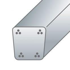 Pali in cemento precompresso8X8,5cm-4trecce