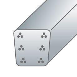 Pali in cemento precompresso8X8,5cm-6trecce