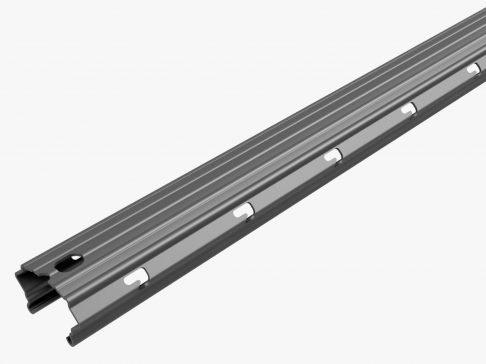 Palo zincato a caldo 60X40 altezza 2.5/2.8/3m spessore 1.80mm