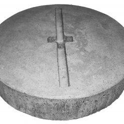 Piastra in cemento armato Ø 30cm